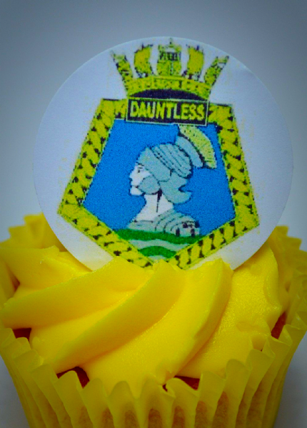 WRNS Wrens cake toppers - HMS Dauntless Crest